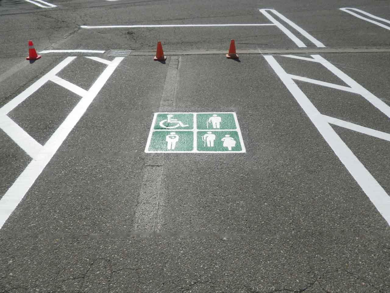 優先駐車マーク
