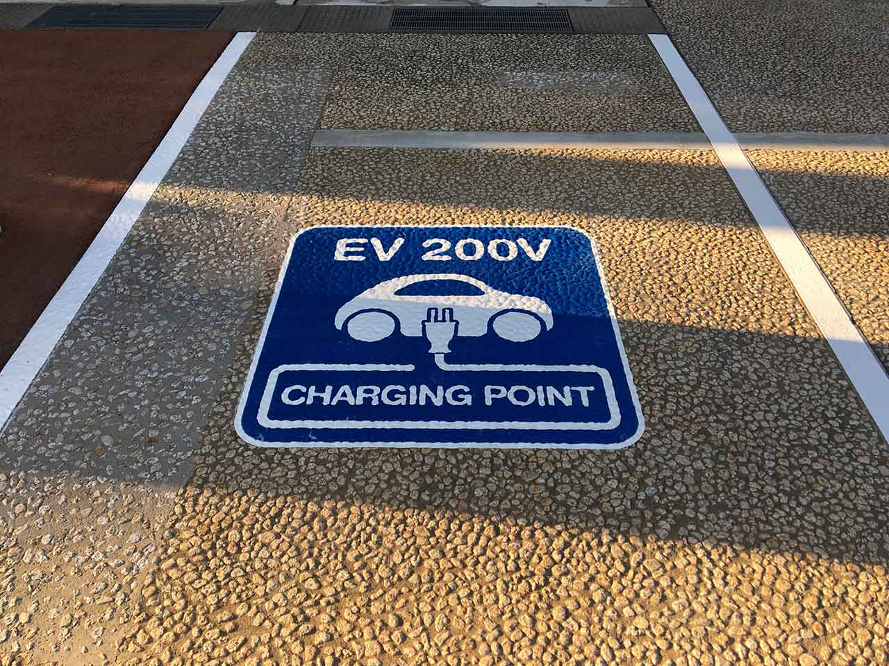 電気自動車サイン EV 200V