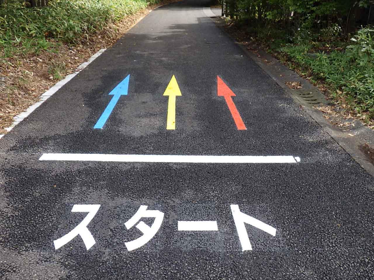 金川の森サイクリングコース スタート
