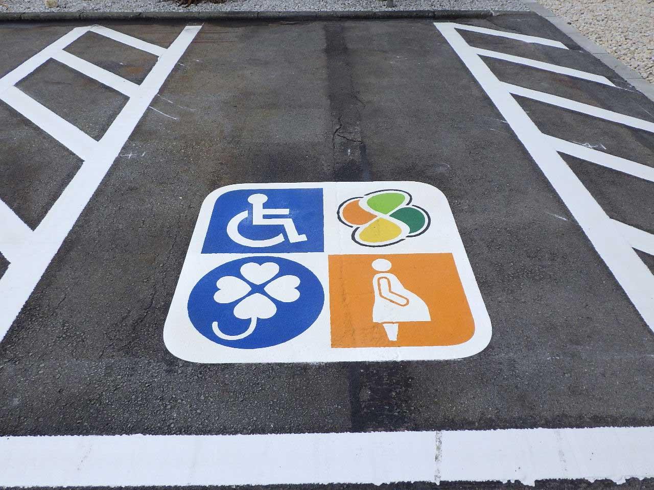 優先駐車マーク(複合型)